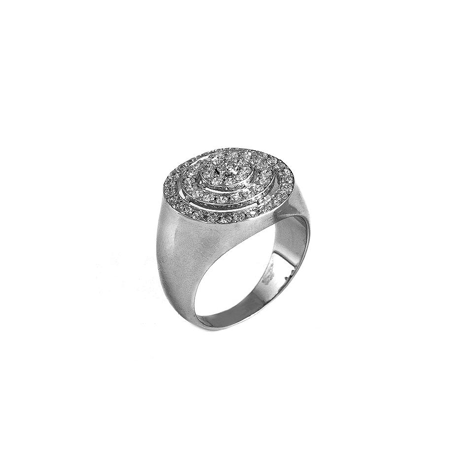 Sortija diamantes. ( Rf 04184S-BR )