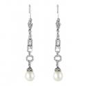 Pendientes con diamantes y perlas ( Rf 03935BR )