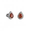 Pendientes con diamantes y rubís ( Rf 05020BR-RB )