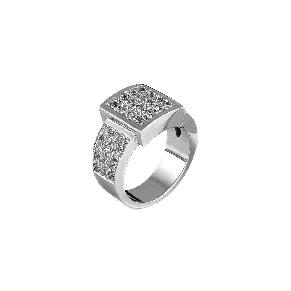 Sortija con diamantes  ( Rf 03359SBR )