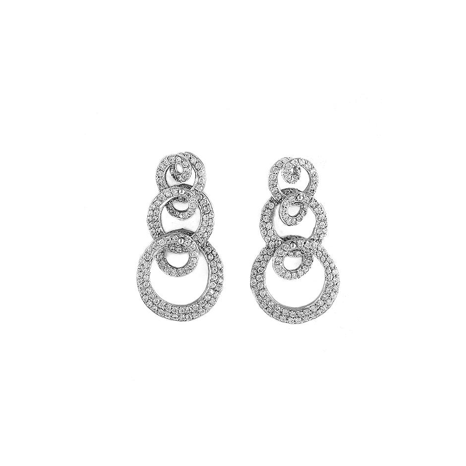 Pendientes con diamantes  ( Rf 04180P-BR)