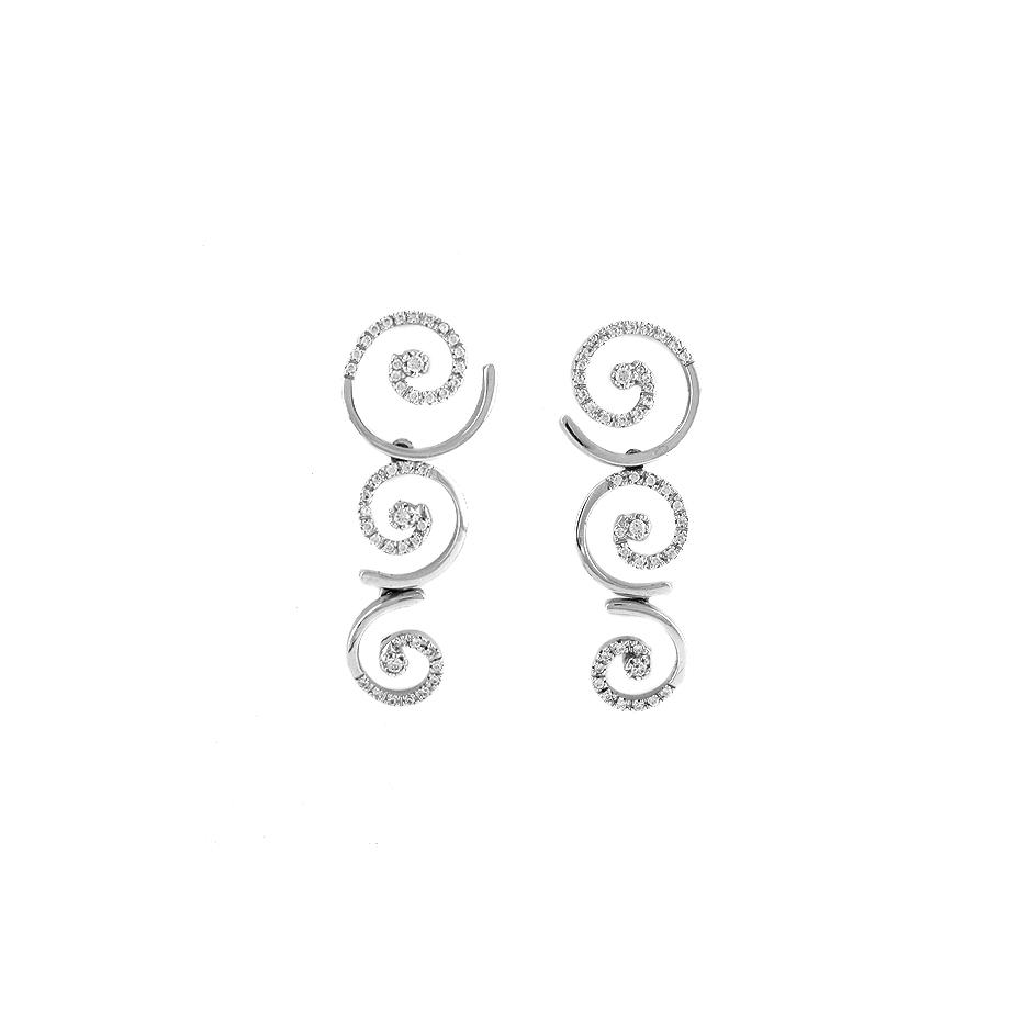 Pendientes con diamantes  ( Rf 04390BR)