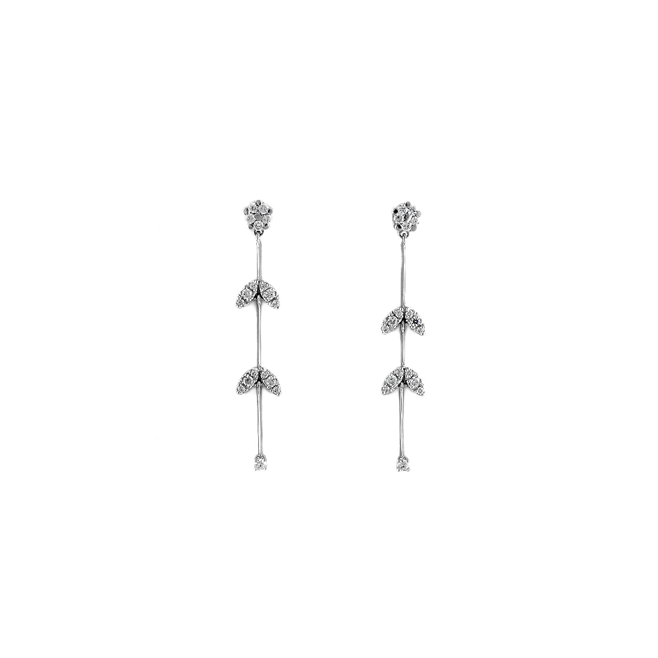 Pendientes con diamantes  ( Rf 04460BR)