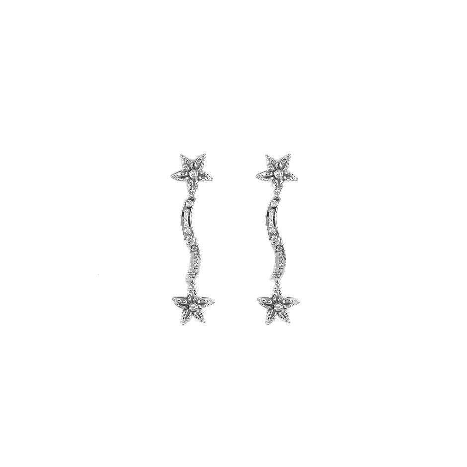 Pendientes con diamantes  ( Rf 05064P-BR)