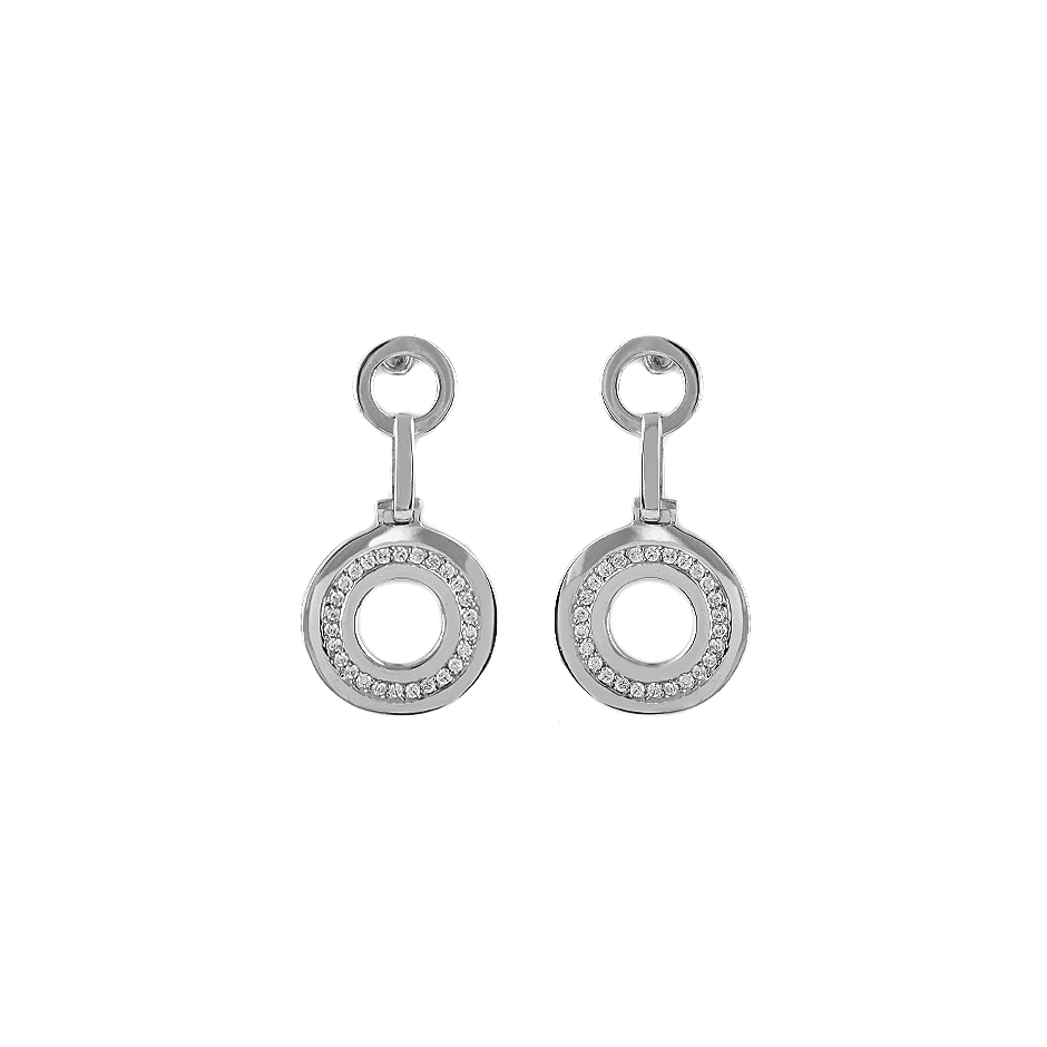 Pendientes con diamantes  ( Rf 04462BR)
