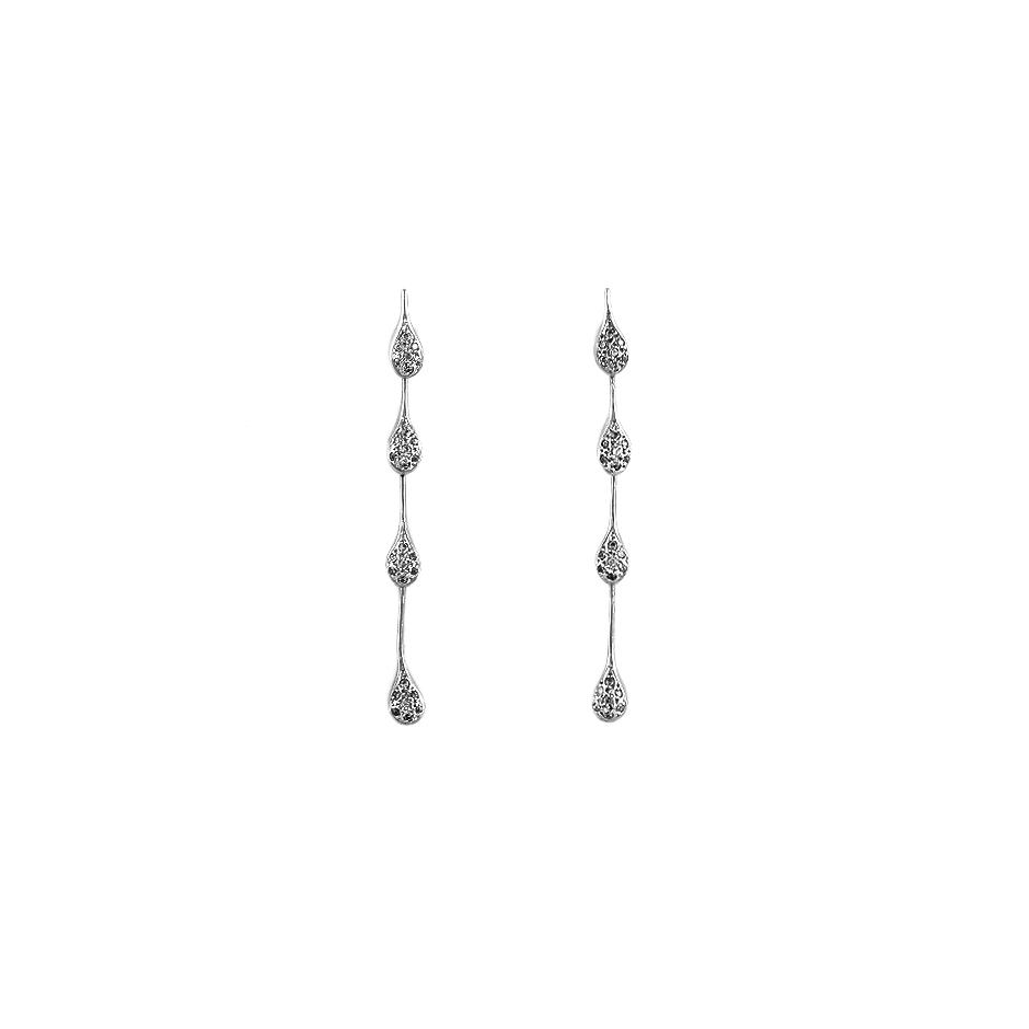 Pendientes con diamantes  ( Rf 04449BR)