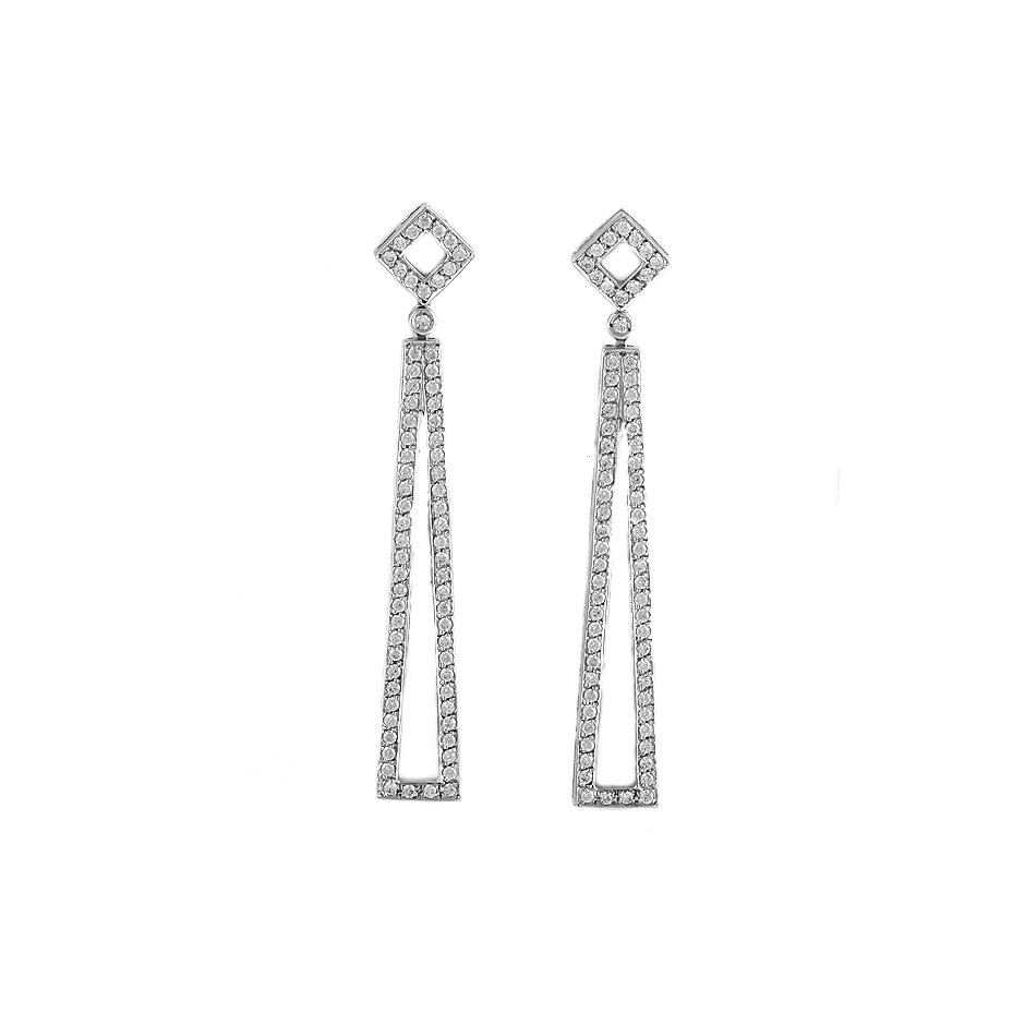 Pendientes con diamantes  ( Rf 04498BR)