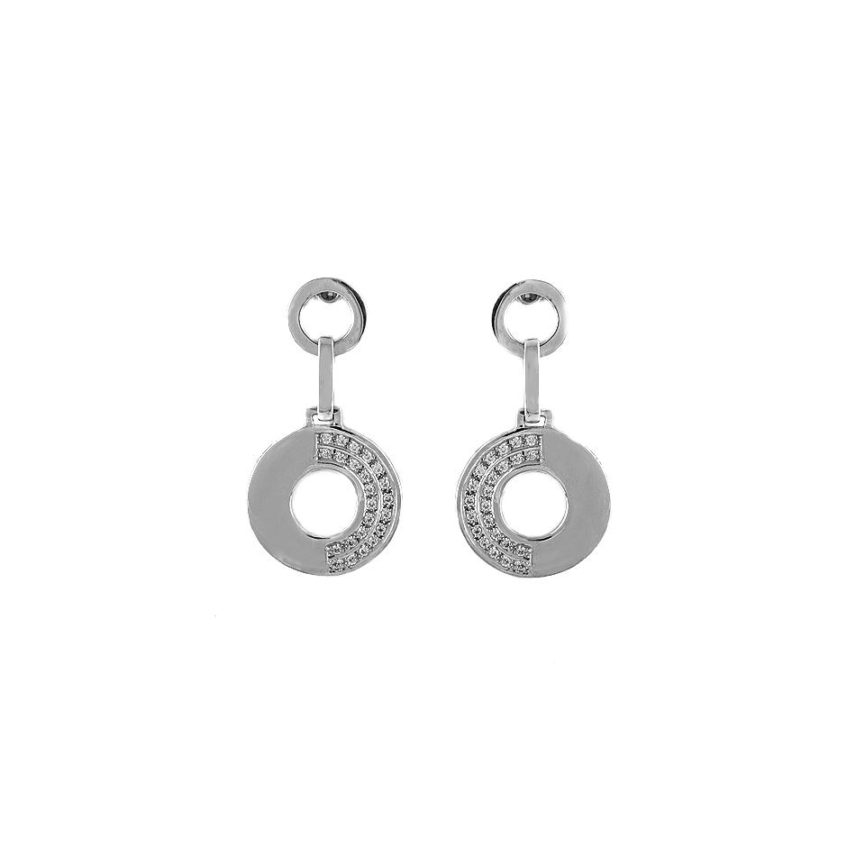 Pendientes con diamantes  ( Rf 04451BR)