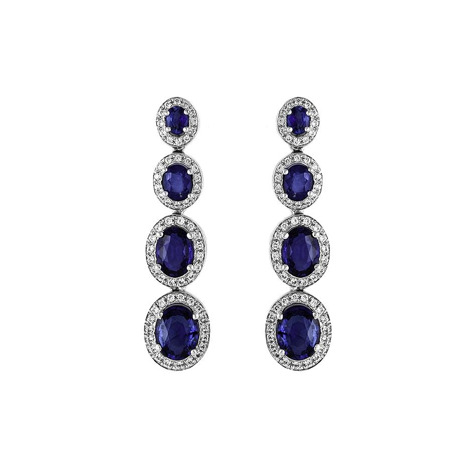 Pendientes con diamantes  ( Rf 05237BR-ZF)