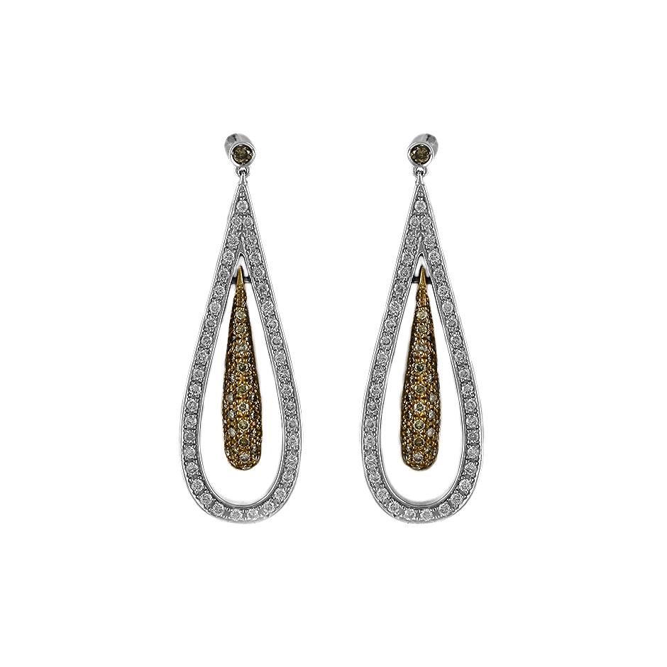 Pendientes con diamantes  ( Rf 05294BR-BROWW)
