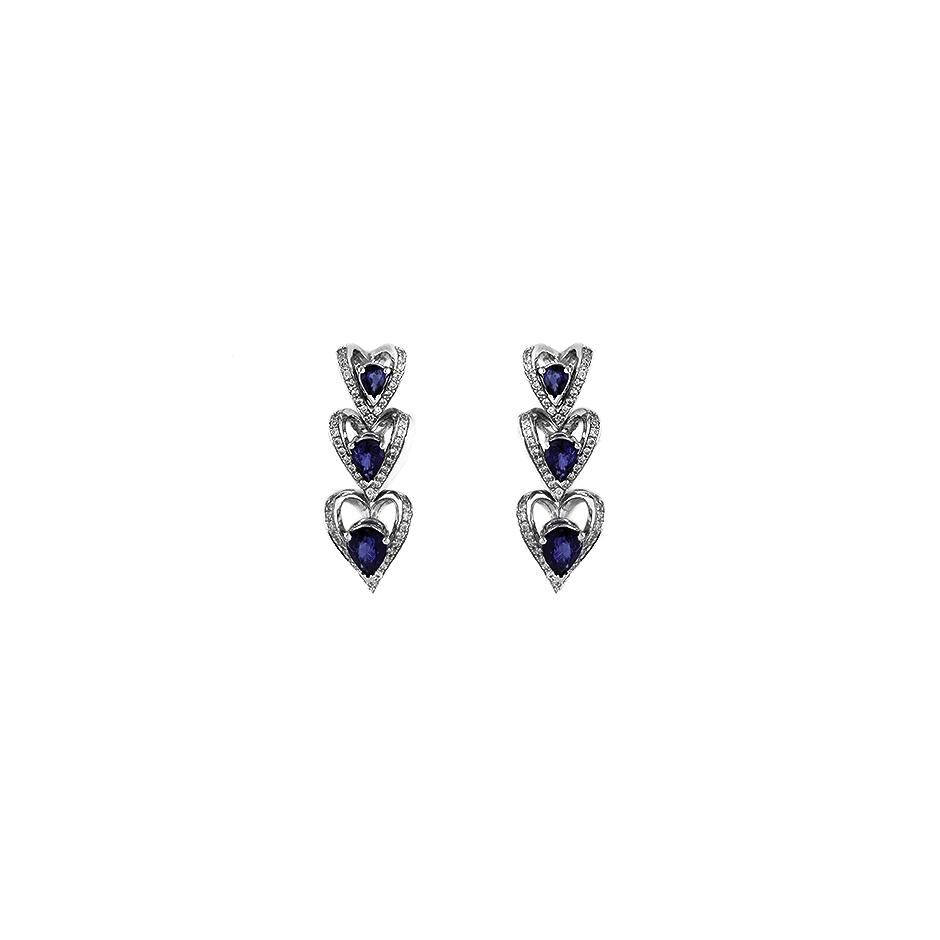 Pendientes con diamantes  ( Rf 06070PBR-ZAF)