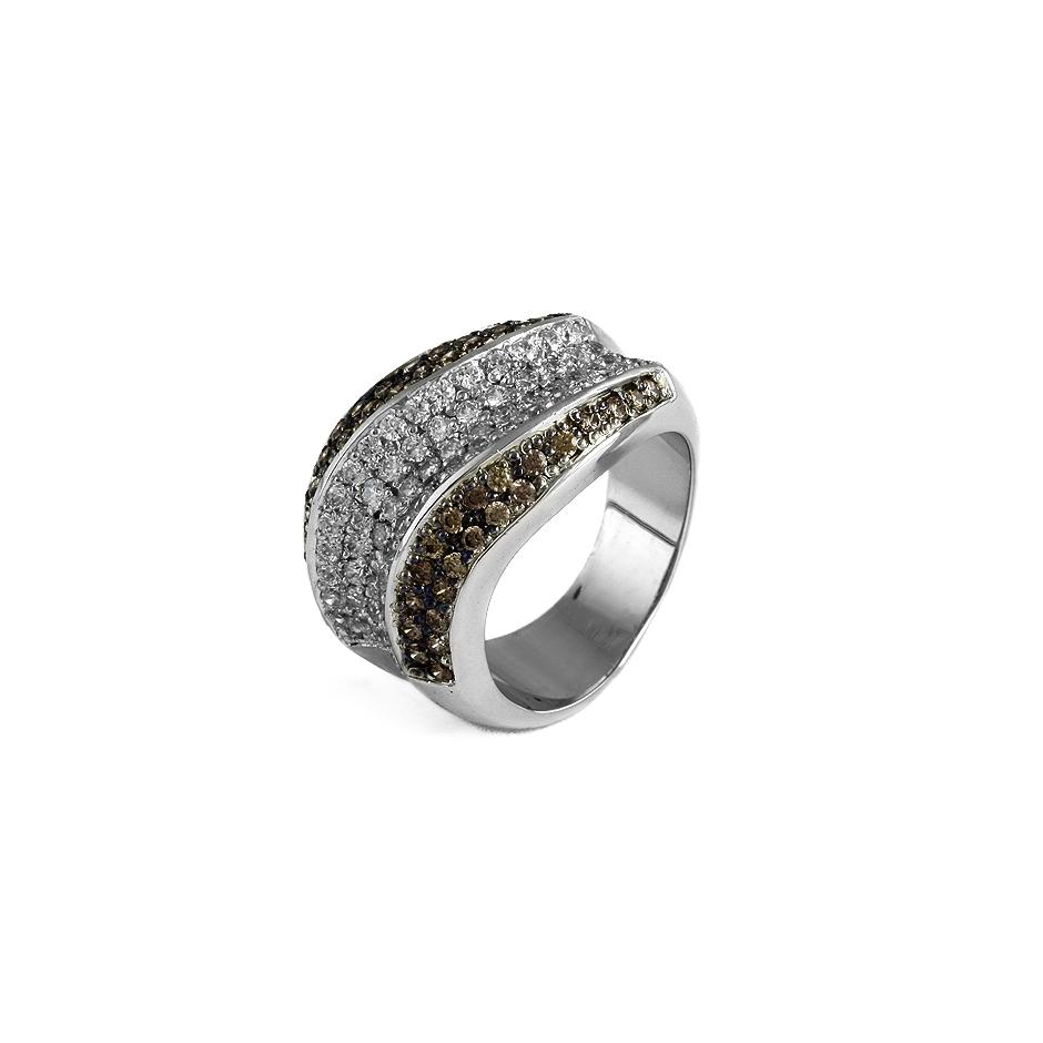 Sortija diamantes. (04200BR-BRW)