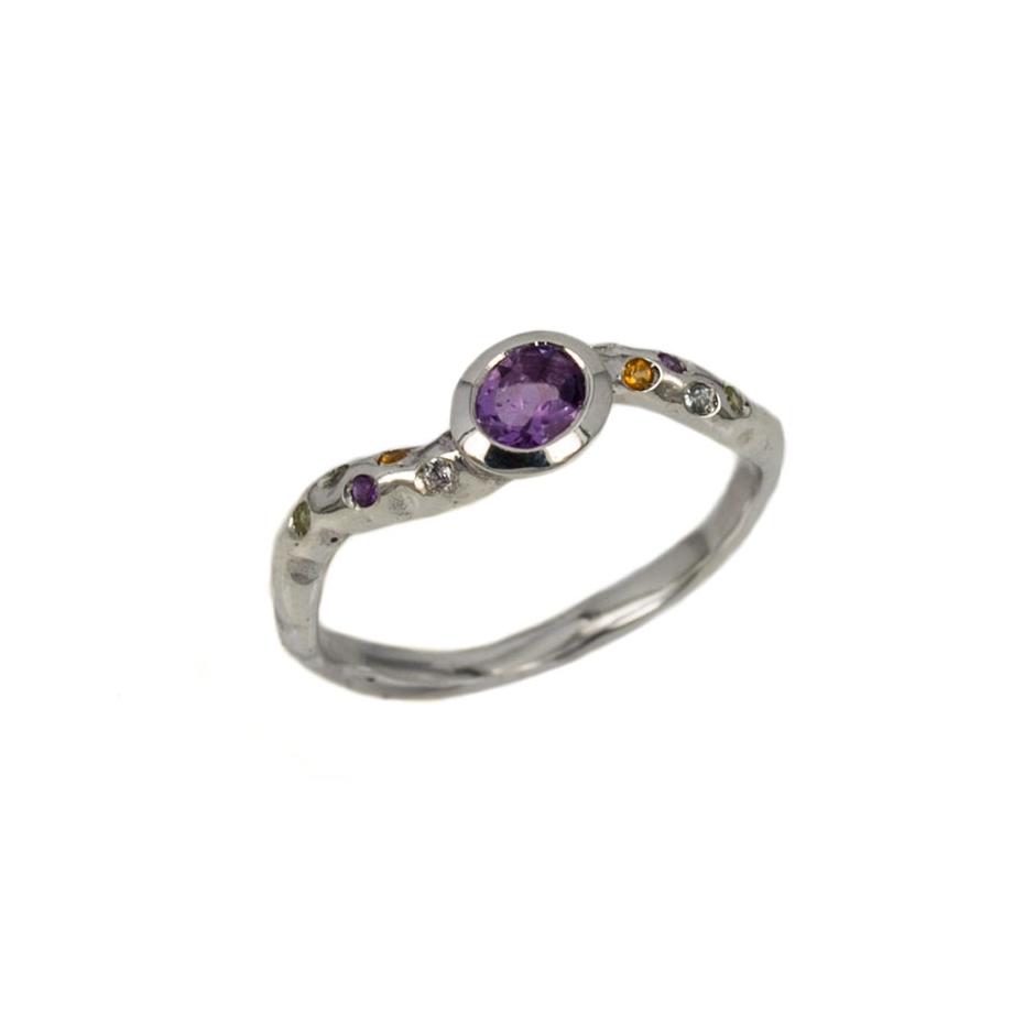 Sortija piedras color (Rf 07248)