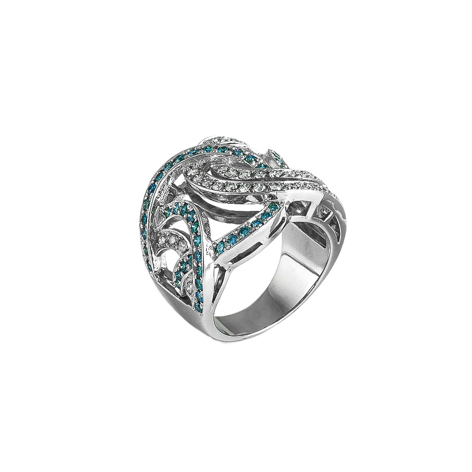 Sortija diamantes. (04297BR-BRAZUL)