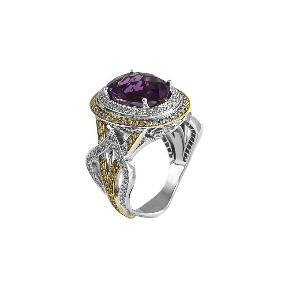 Sortija diamantes. (Rf 05297BR-BROW)