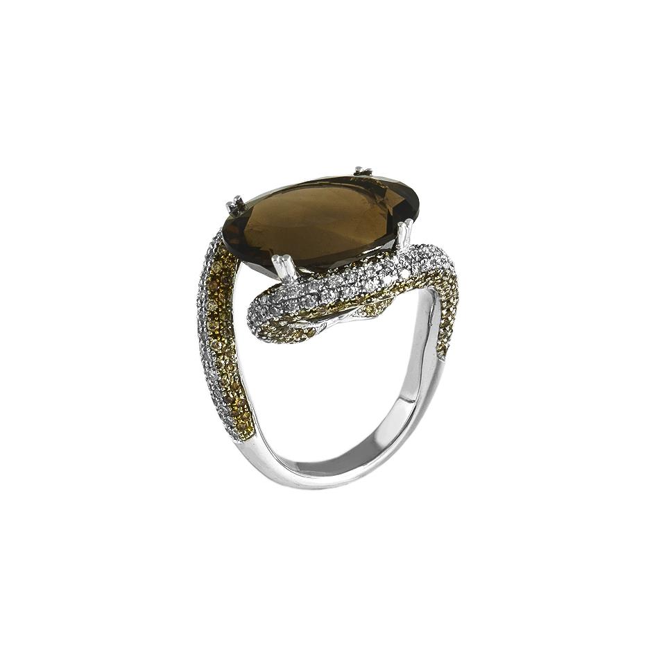 Sortija diamantes. (Rf 05327BR-BROW)