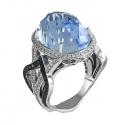 Sortija diamantes. (Rf 05298BR-N)