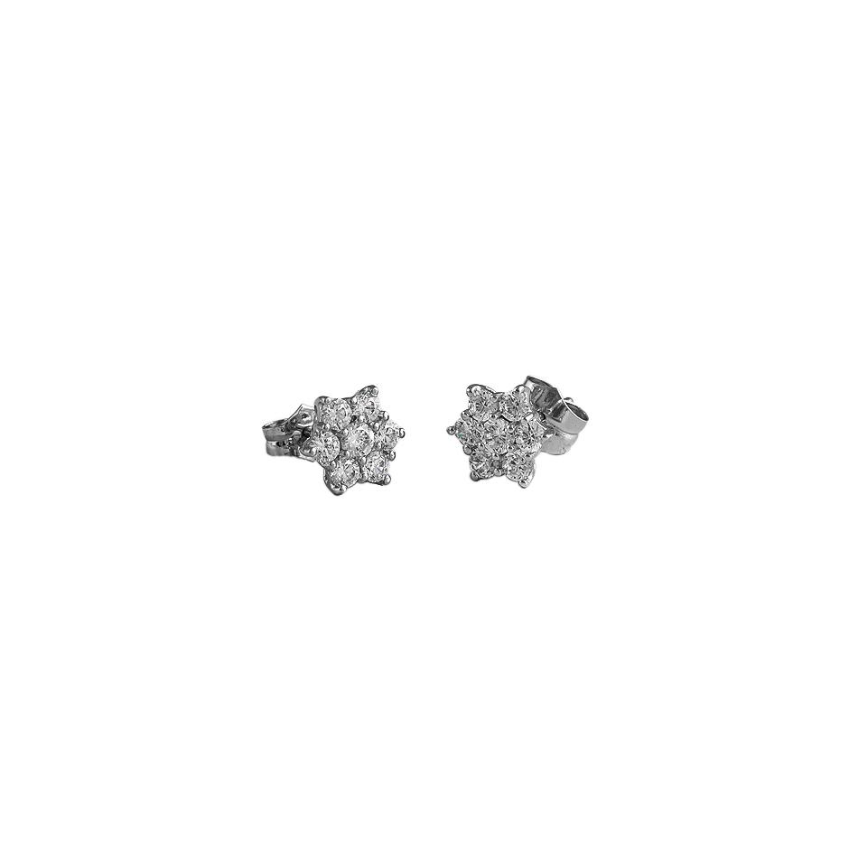 Pendientes con diamantes  ( Rf 03143PBR )