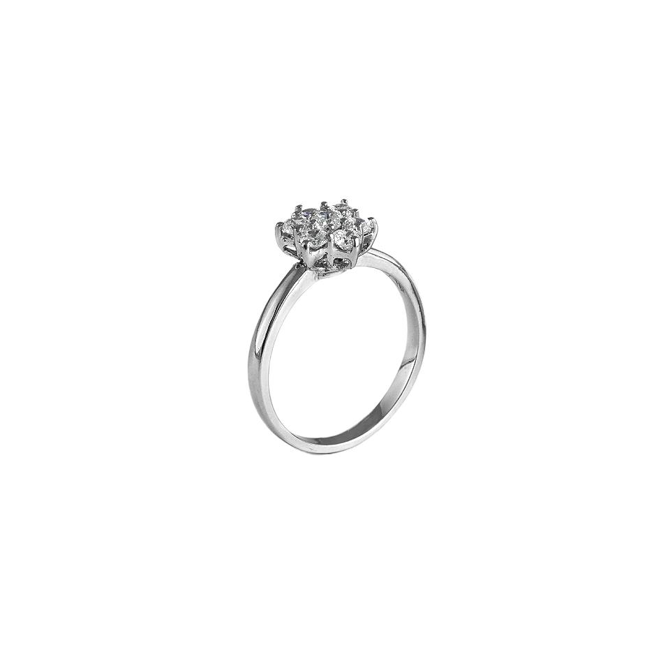 Sortija con diamantes  ( Rf 03143SBR )