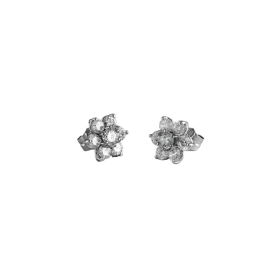 Pendientes con diamantes  ( Rf 05286P-BR )