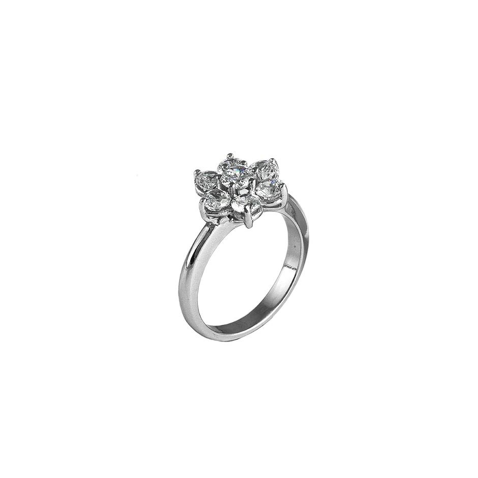 Sortija con diamantes  ( Rf 05286S-BR )