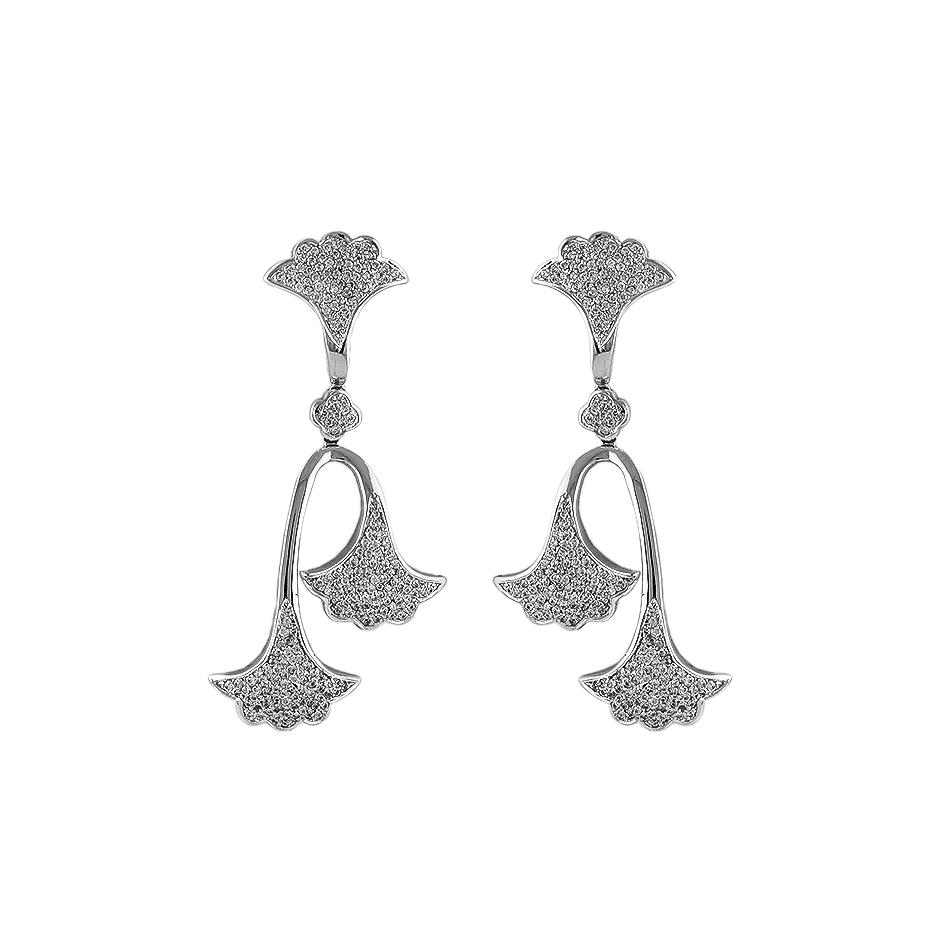 Pendientes con diamantes  ( Rf 04699P-BR )