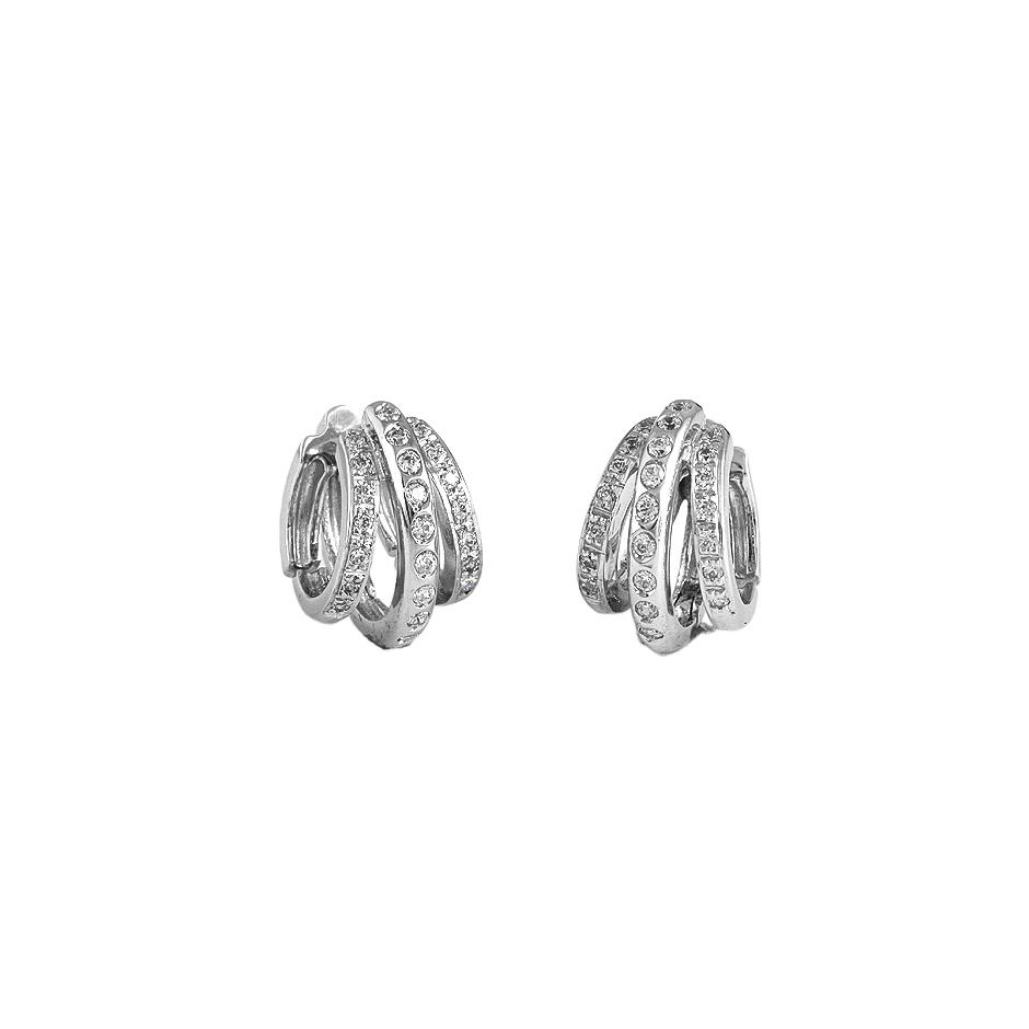 Pendientes con diamantes  ( Rf 01930BR )