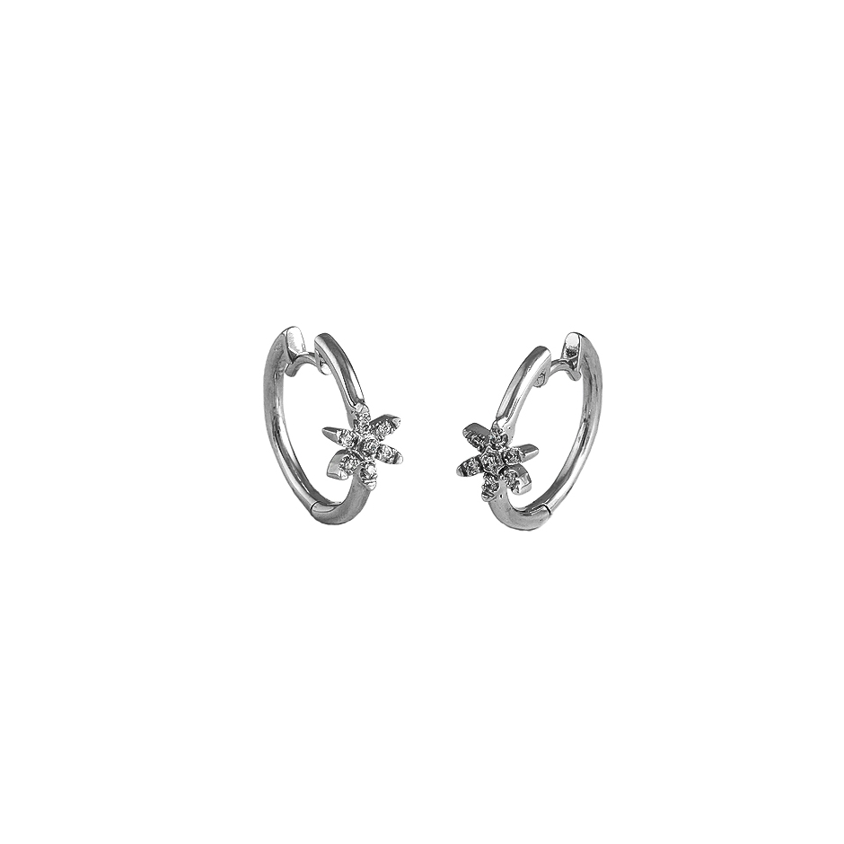 Pendientes con diamantes  ( Rf 04422BR )