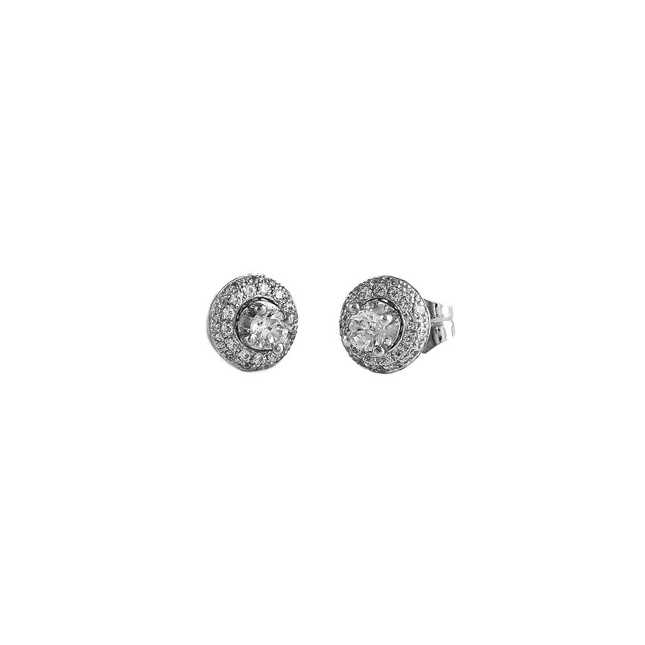 Pendientes con diamantes  ( Rf 05123-PBR )