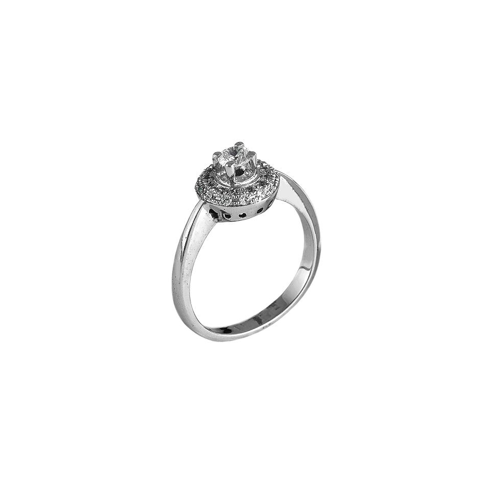 Sortija con diamantes  ( Rf 05123-SBR)